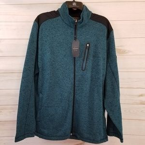 NWT Greg Norman Men's blue zip up sweater size L